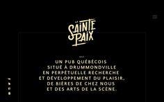 La Sainte Paix quebec pub french black yellow webdesign handwritten calligraphy font logo logotype site of the day sotd  modern minimal beau