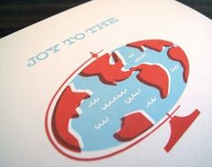 FFFFOUND! | Joy to the World Letterpress Card by luludee on Etsy #screen #illustration #silk