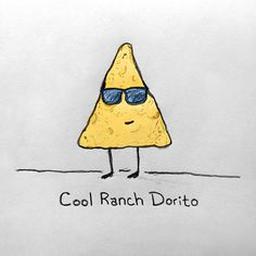 Cool Ranch Dorito #doritos #ranch #illustration #pencil #paper #sketch #cool