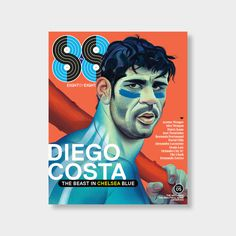 04_Shop #diego #8by8 #costa #fc #soccer #cover #illustration #football #chelsea #magazine