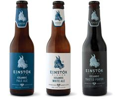 Einstok labels #beer #white #bottle #packaging #label #iceland #and #blue