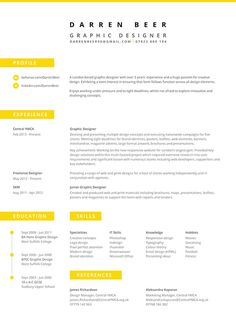 Darren Beer | CV on Behance #cv #layout