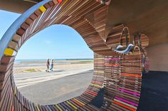 The Longest Bench, Littlehampton « Studio Weave #furniture #architecture #bench