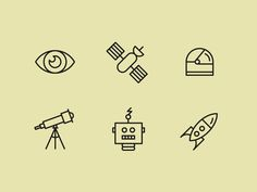 Space exploration icons #icons