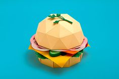 Deleve / Healthy food on Behance #craft #burger #paper #food