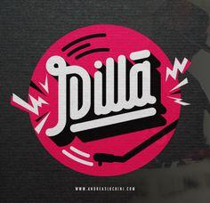 J Dilla #jdilla #hiphop #typography #branding