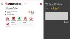 Zomato Windows 8 App on Behance #windows8