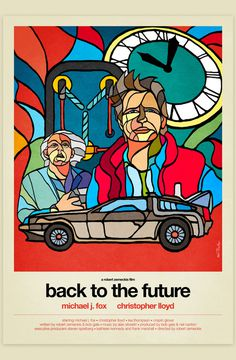 Van Orton Design's stained glass style movie posters Imgur #design #graphic #the #glass #illustration #back #stained #future #to