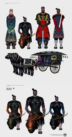 Terracotta Warrior illustrations #design #illustration #china #terracotta #warrior