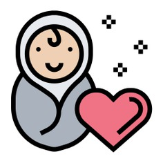 See more icon inspiration related to human, cute, newborn, heart, motherhood, largess, kid and baby, charity, donate, donation, baby and people on Flaticon.
