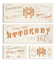 the law office of matthew messina #typography #print #stationary #illustration