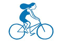 Jean Jullien's online portfolio: Colette postcards #woman #bicycle #summer #bike #cycling