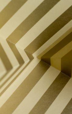 Paper folding #design #graphic #origami #gold #folding #paper