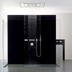 Ultimate Rain Shower : FFFFOUND! | Symetrics Modern Bathroom Concepts from Dornbracht #toilet #shower #design #bathroom #product #rain