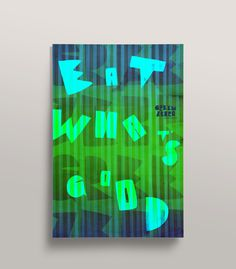 Green Zebra Grocery - Mr Miles Johnson #miles #design #color #advertising #direction #johnson #art #poster #mr #typography