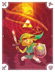 Zelda - Wind Walker Poster - Logan Faerber #illustration #faerber #poster #zelda
