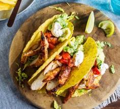 Lighter chicken tacos