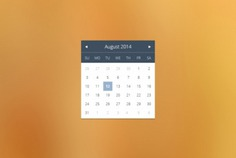 Simple calendar widget in flat design Free Psd. See more inspiration related to Calendar, Design, Flat, Flat design, Psd, Simple, Horizontal and Widget on Freepik.