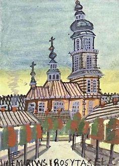 nikifor-a-little-church-e1278053174104.jpg 600×839 pixels #color #retro #illustration #painting #naive
