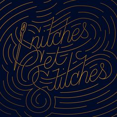 Snitches Get Stitches Art Print #illustration