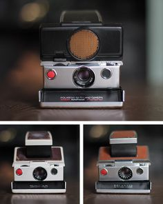 One of the most iconic cameras is the Polaroid SX 70. I have only ever been lucky enough to find one in a car boot sale   the Polaroid SX 70