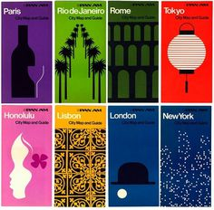 Container List: From Rome to Rio #george #guide #map #cities #illustration #1970s #pan #tscherny #am
