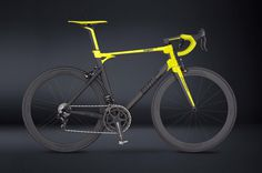 Lamborghini x BMC Switzerland Bike @ ShockBlast #switzerland #yellow #bikes #sexy #black #bike #bright #lamborghini #bmc