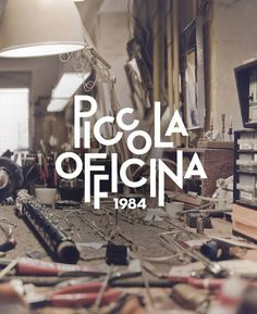 Piccola Officina by dework #inspiration #lettering #design #brand #identity #logo #typography