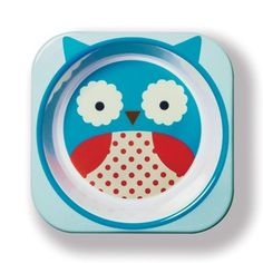Skip Hop: Product Image Zoom #owl #skip #tableware #design #zoo #illustration #hop #children