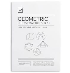 These custom illustrated Geometric shape vectors can add a creative element to poster design, flyers, brochures, tattoos, bottle caps, badge