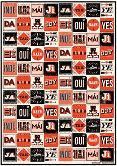 YES!!! | Telegramme #design #poster #typography