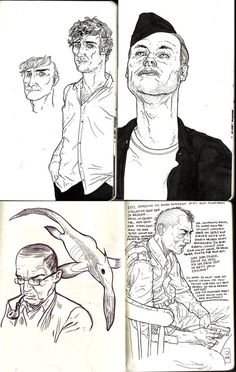 BlackYard » Jared' Sketchbook 2009 1.2 #blackyard #ink #people #illustration #brush