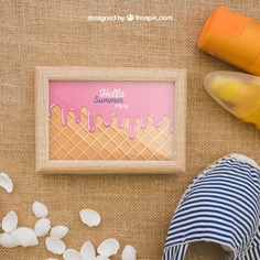 Summer concept with frame and suncream Free Psd. See more inspiration related to Frame, Mockup, Summer, Template, Beach, Sea, Sun, Photo frame, Photo, Holiday, Mock up, Decoration, Pineapple, Decorative, Vacation, Templates, Cream, Shell, Summer beach, Sunshine, Aloha, Up, Season, Concept, Sea shell, Seashell, Shells, Composition, Mock, Summertime and Seasonal on Freepik.