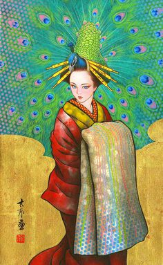 Maiko Musings: Stunning Manga Paintings by Tamura Yoshiyasu