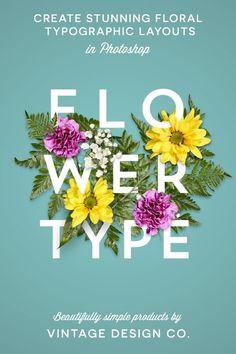 Flower Type for Illustrator