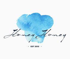 Honey Honey #cake #erdokozi #erik #cloud #muffin #honey #aquarel #logo #blue