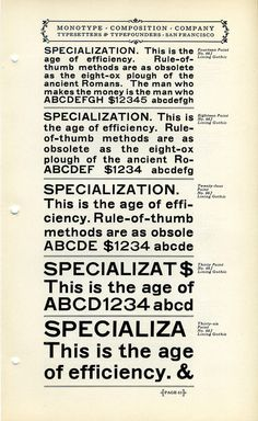 No. 66 Lining Gothic was a Monotype knockoff of an 1880s typeface by MS #type #specimen #typography
