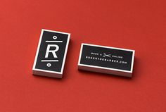 Roger The Barber by Cast Iron Design #business card #branding