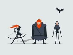 Jerry Liu Game of Thrones Fan art wildlings ygrid
