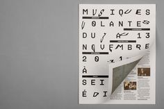 musiques volantes #grid #design #graphic #editorial