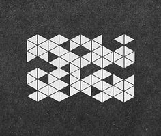 FFFFOUND! | Type Treatments // Lettering on the Behance Network #triangles