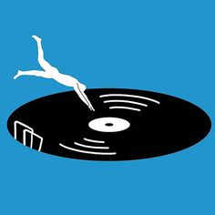 Eargasm #illustration #music #eargasm #record #vinyl #pool