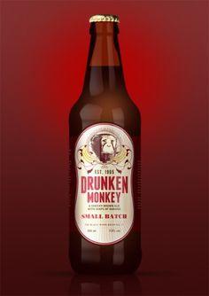beer-bottle-visual-26-11-11.png (600×849) #beer #banana #small #packaging #batch #label #monkey #drunken #brown #ale