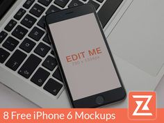 8 Free Realistic iPhone 6 Mockup PSD