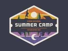logo, stamp, camp, badge