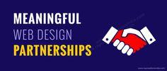 partnership graphic of shaking hands #shakinghands #partnership #webdesign