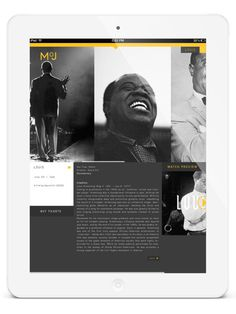 MoJ | New Orleans on Behance #ipad #app #museum #jazz