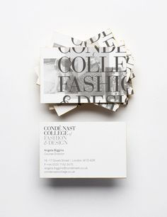 Conde Nast 0045_453 #business #design #stationery #type #cards #typography