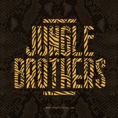 Jungle Brothers #junglebrothers #hiphop #typography #branding
