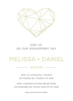 Diamond Love - Engagement Invitations #paperlust #engagementinvitation #engagementcard #engagementinspiration #design #paper #raisedfoil